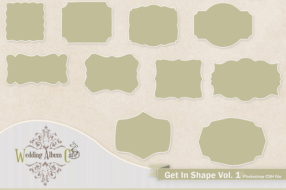 Get In Shape Custom Photoshop Shapes