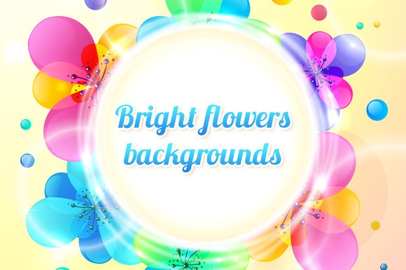 6 Abstract Vector Floral Backgrounds