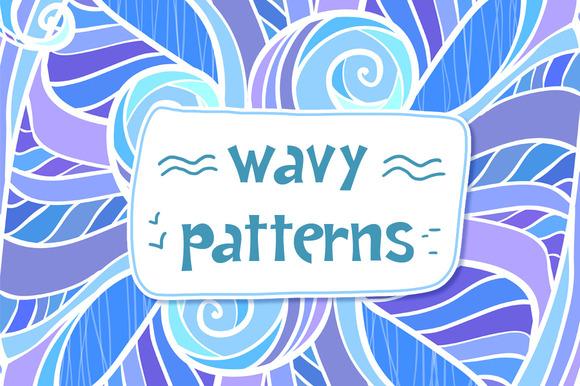 12 Ornate Wavy Seamless Patterns