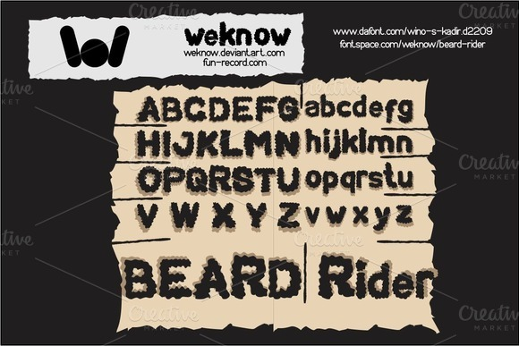 Beard Rider Font