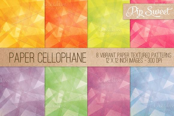 Paper Cellophane 8 Pattern Set