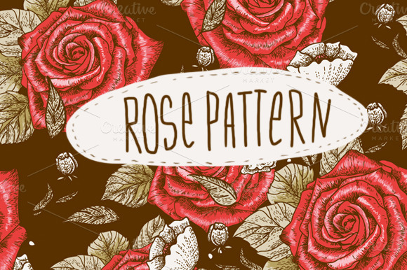 Floral Seamless Background With Rose