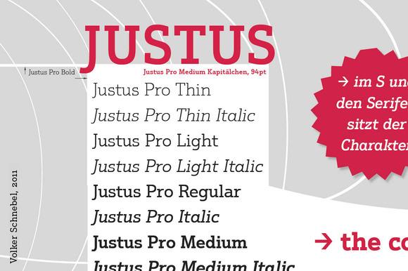 Justus Pro Volume With 10 Styles