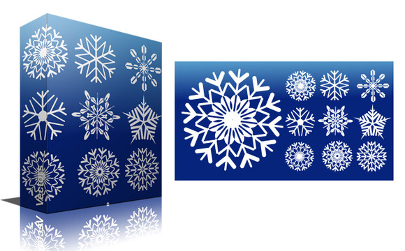 Snowflakes Vectors PNG Brushes