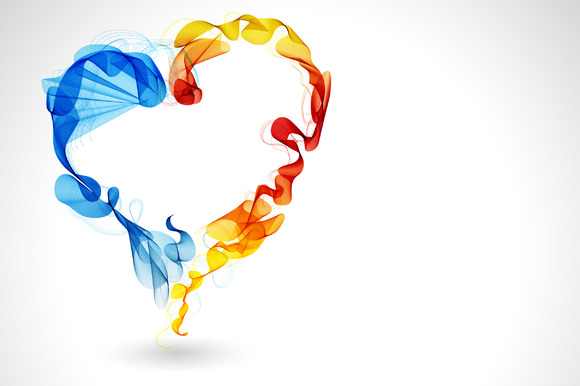 Abstract Color Heart