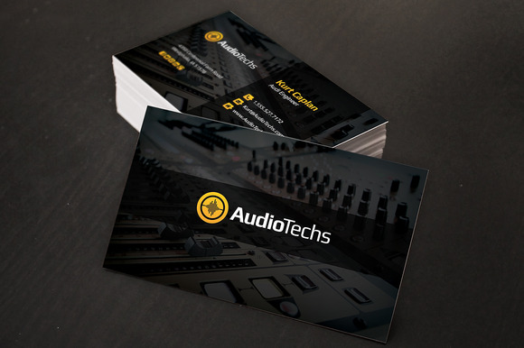 Audio Engineer Business Cards Logo