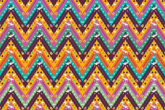 Seamless Aztec Geometric Pattern