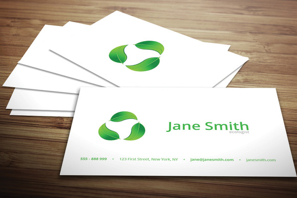 Eco Minimal Business Card