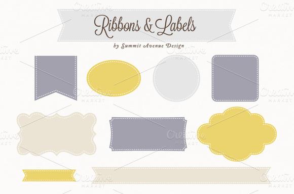 Ribbon Label Shapes
