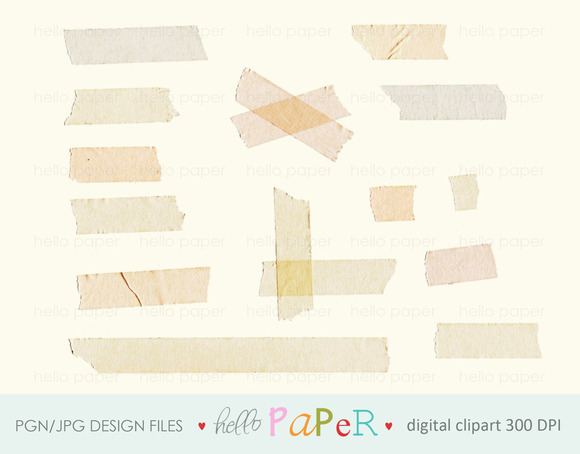 Natural Vintage Tape Strip