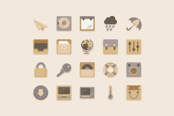Flat Icons Vanilla Choc Chip Theme