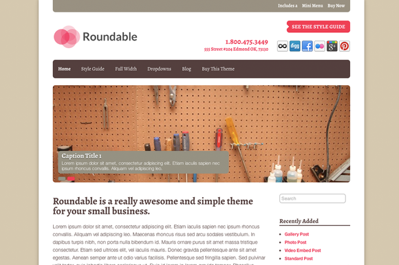 Roundable Business WordPress Theme