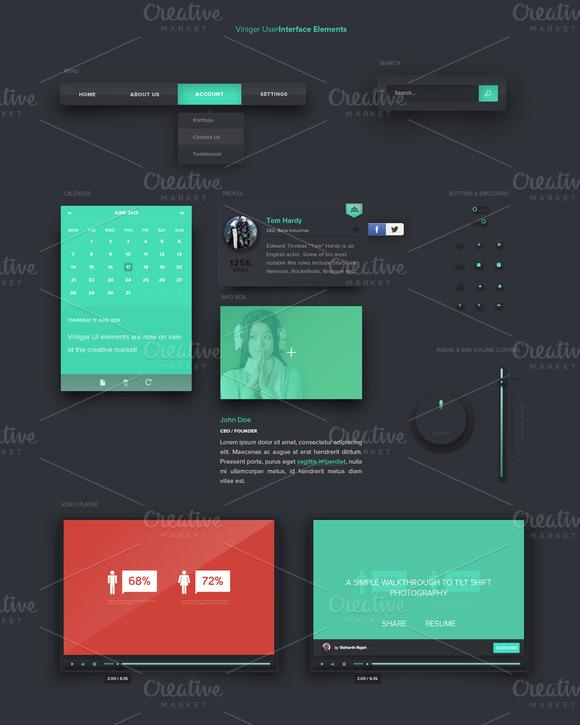 Viniger User Interface Elements