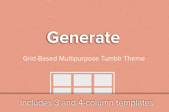 Generate Simple Grid Tumblr Theme
