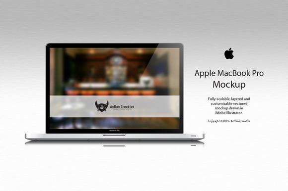 Apple MacBook Pro Vector Mockup