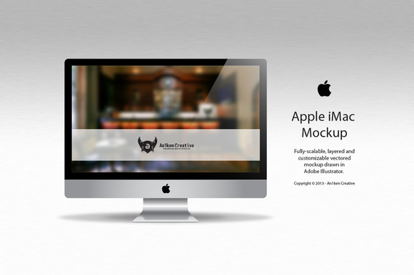 Apple IMac Vector Mockup