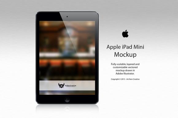 Apple IPad Mini Vector Mockup