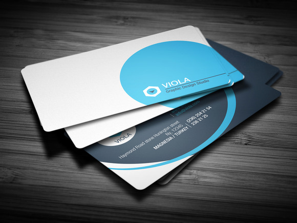 Blue Creative Business Card