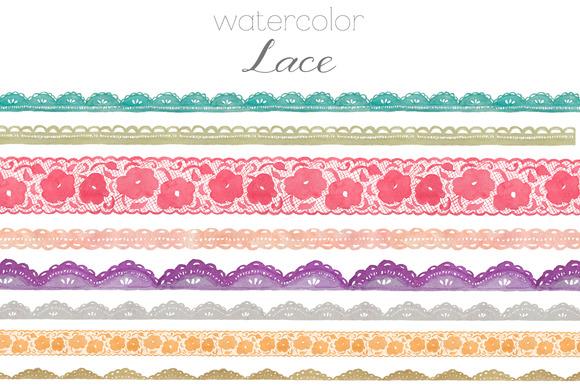 Watercolor Lace Clip Art