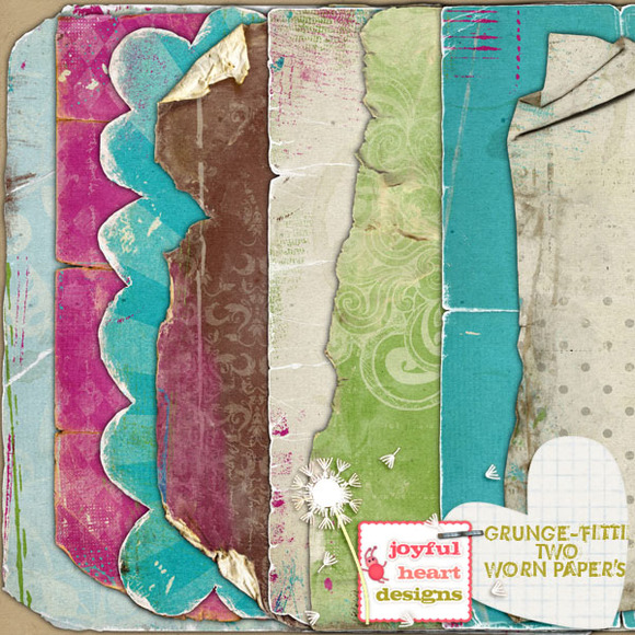 Grunge-fitti {two Worn Papers}