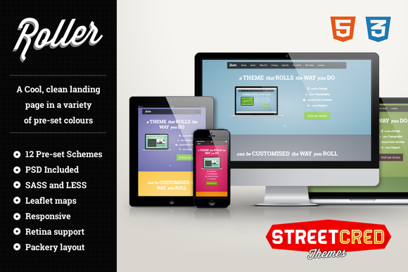Roller Responsive HTML Template