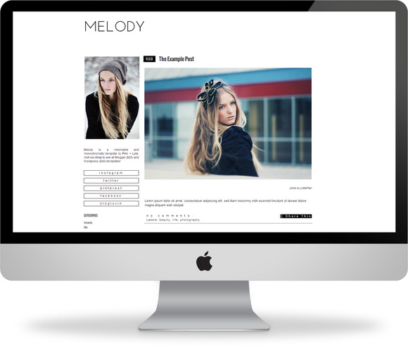 Melody Blogger Template