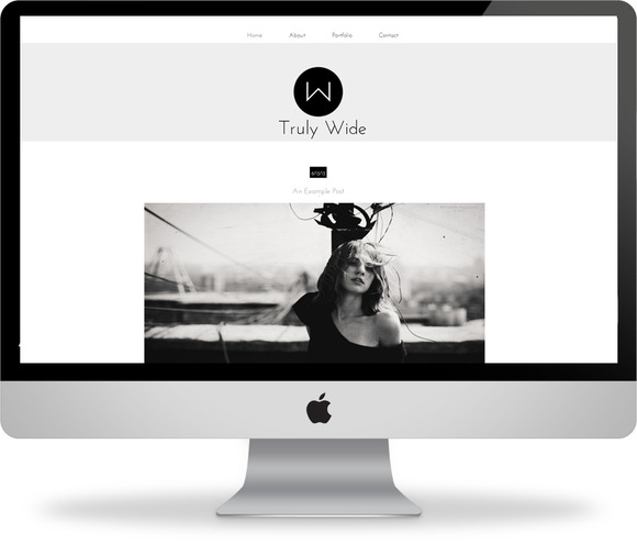 Truly Wide Blogger Template