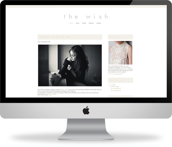 The Wish Blogger Template
