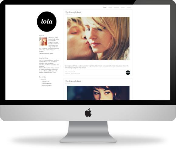 Lola Blogger Template