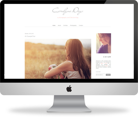 Carolyna Days Blogger Template