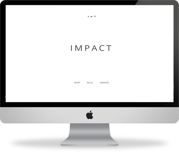 Impact Splash Page For Blogger