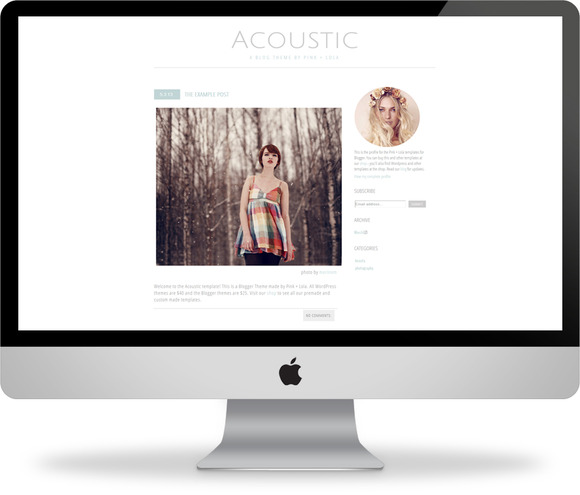 Acoustic Blogger Template
