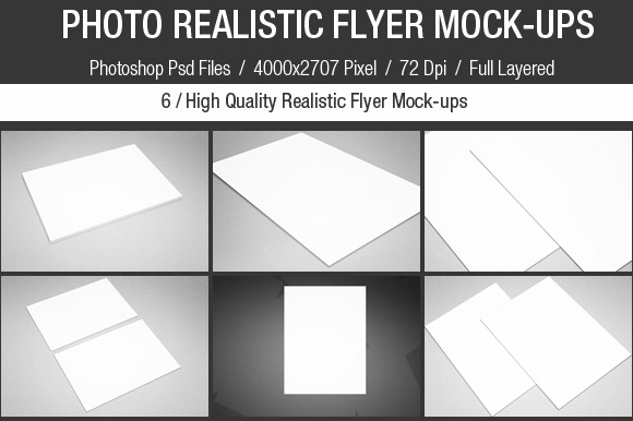 Photo Realistic Flyer Mock-Ups Set
