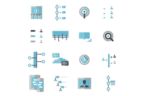 Modern Social Timeline Icons