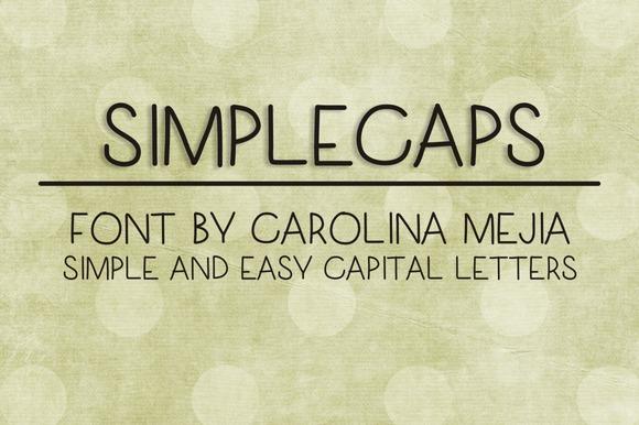 SIMPLECAPS FONT