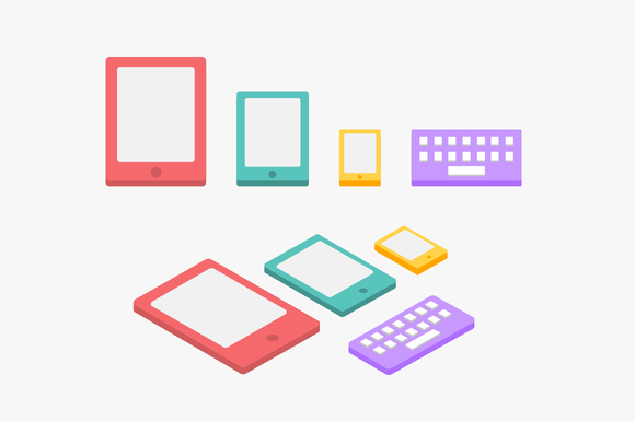 Digital Flat Icons