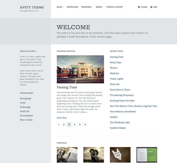 Avett A Responsive WordPress Theme