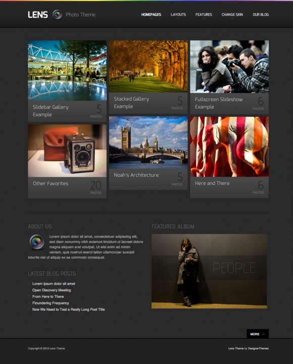 Lens A WordPress Photography Theme