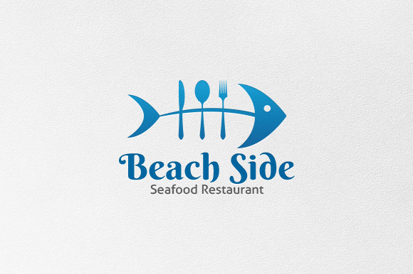Beach Side Logo Template