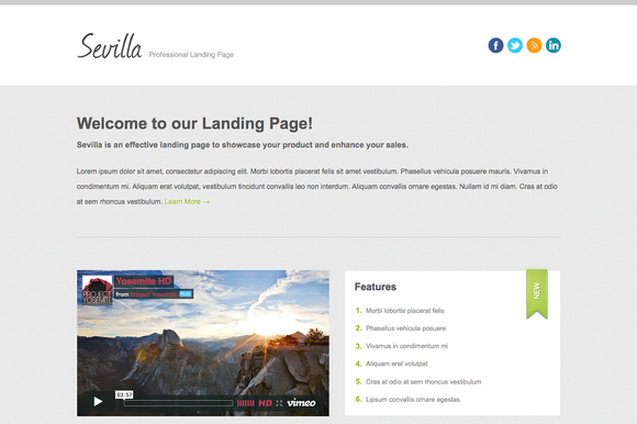 Sevilla Landing Page
