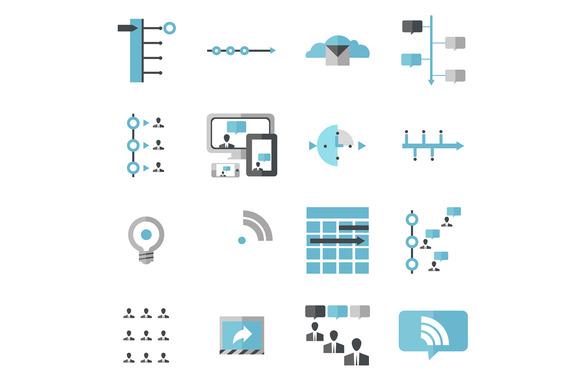 Modern Social Media Timeline Icons