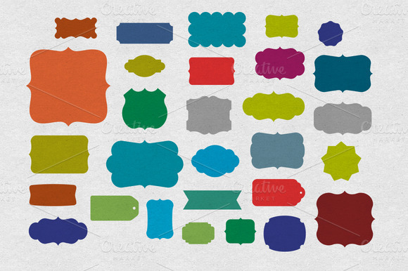28 Vector Labels And Tag Shapes