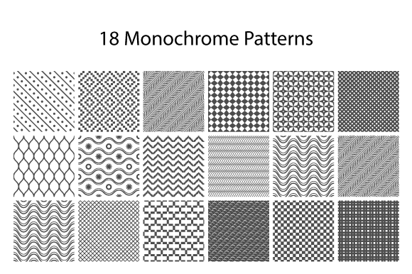 18 Monochrome Patterns