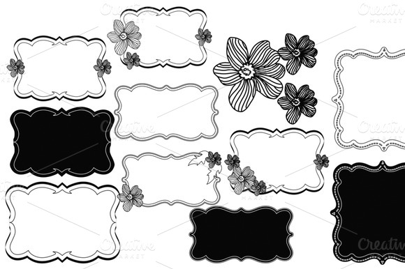 Pretty Little Notes Frames Brushes