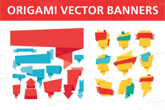 Origami Vector Banners
