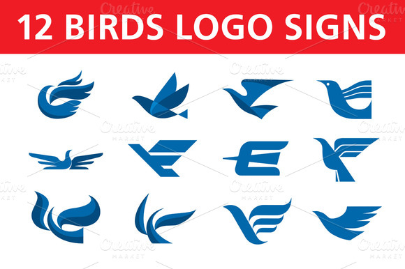 12 Birds Logo Signs