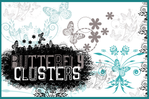 Butterfly Clusters Photoshop Brushes