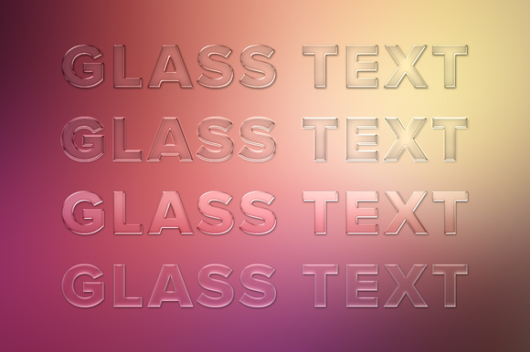 Glass Text Styles