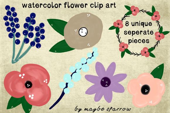 Painted Flower Clip Art