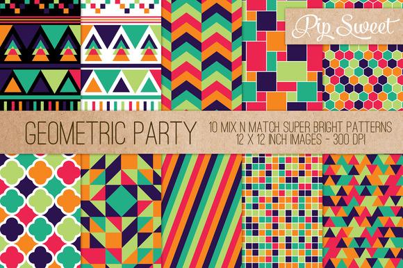 Geometric Party 10 Pattern Set